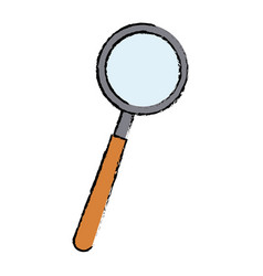 Magnifier loupe research science technology vector
