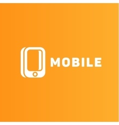 Mobile phone of the trend in logo vector