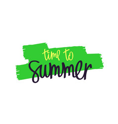 Paintbrush smear and lettering - summer vector