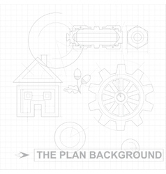 Plan Background vector image vector image