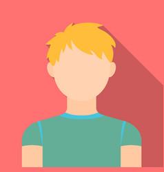 Redhead boy icon flat single avatarpeaople icon vector
