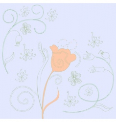 spring decorative background vector image