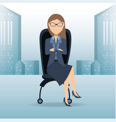 successful business woman cartoon vector image