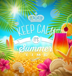 Summer holidays greeting tropical design vector