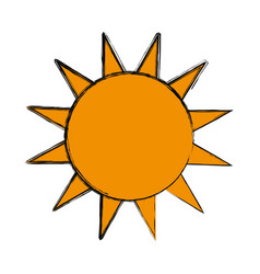 Sun isolated symbol vector