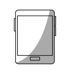 Isolated tablet device design vector