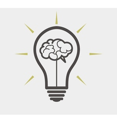 Idea concept - bulb and brain vector