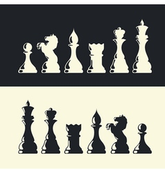 Chess pieces collection vector