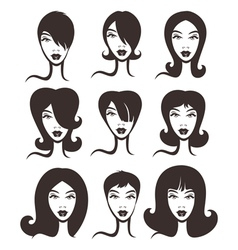Different hairstyles collection vector