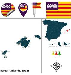 Balearic islands spain vector