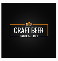 Craft beer logo design background vector