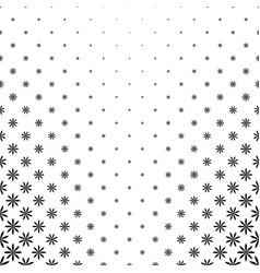 Monochrome stylized flower pattern background vector