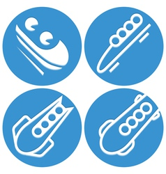 Bobsled icons vector