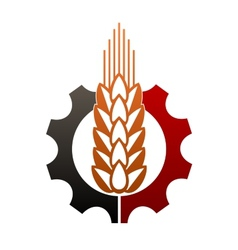 Icon depicting agriculture and industry vector