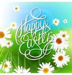 Easter lettering vector