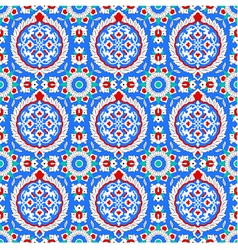 Blue and red Islamic ornaments small vector image