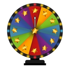 Wheel of fortune lucky vector