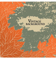 Autumn background in vintage style vector