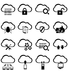 Big data cyber security and cloud computing vector image