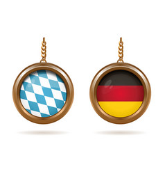 Blue-white bavarian flag and german tricolor vector
