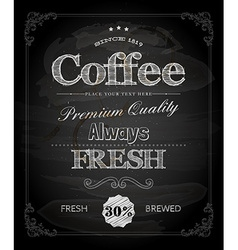 Cafe Poster on Chalk Board vector image vector image