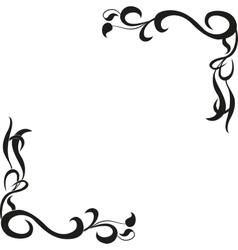 Calligraphic design element of frame and page vector