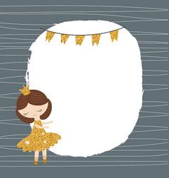 Cartoon princess girl cartoon princess girl vector
