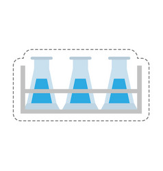 Cartoon test tube laboratory research vector