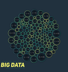 Circular big data colorful vector