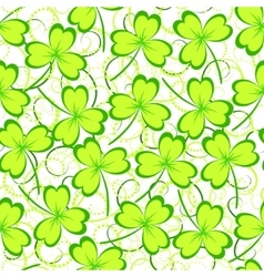 Clover leaves seamless pattern vector