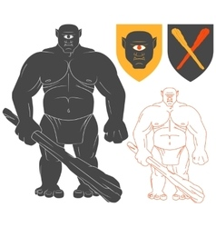 Cyclops with a club vector