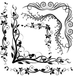 decorative corners vector image vector image