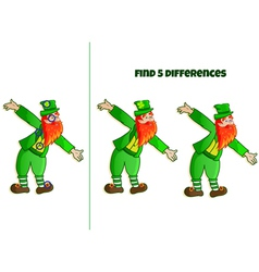 find 5 differences vector image