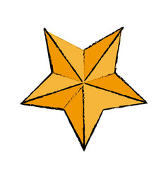 Gold star award quality element icon vector