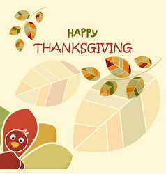 happy thanksgiving day concept funny colorful vector image