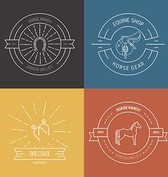 Horse emblems vector