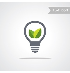 Lamp conceptual symbol for web vector
