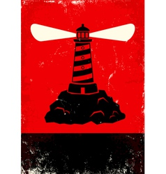 lighthouse red vector image