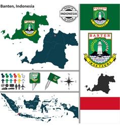 Map of banten vector