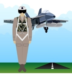 Military uniform force pilot-2 vector