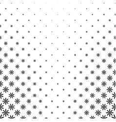Monochrome stylized flower pattern background vector