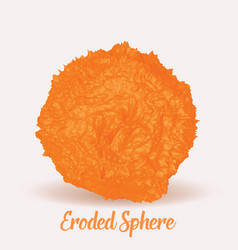 Orange eroded 3d sphere abstract vector