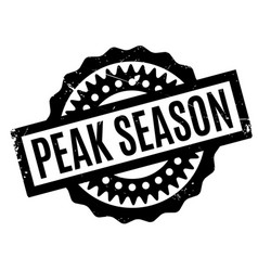Peak season rubber stamp vector