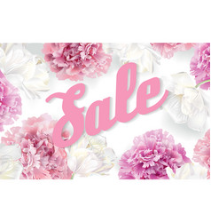 peony sale banner vector image vector image