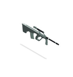 rifle sniper isometric hunting gun silhouette vector image