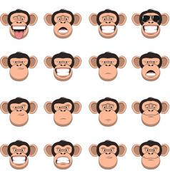 set head monkey vector image vector image
