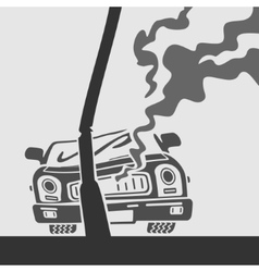 Symbol Car Crash vector image vector image