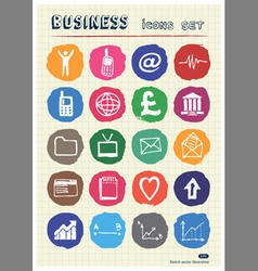 Business shopping and work web icons set vector