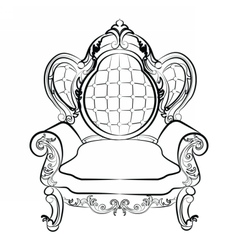 Royal armchair set in baroque style vector