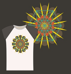 Star tetrahedron t shirt design vector